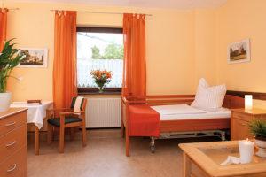 Ein Pflegezimmer der Residenz in der Malteserstraße